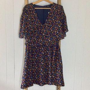 Madewell Cross-Front Mini Dress Garden Party